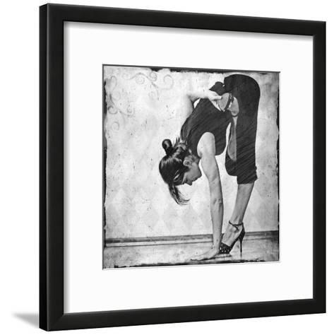 Ardha Baddha Padmottanasana-Gosia Janik-Framed Art Print