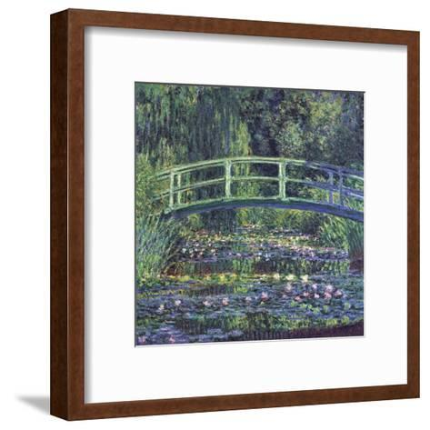 Water Lily Pond, c.1899 (blue)-Claude Monet-Framed Art Print