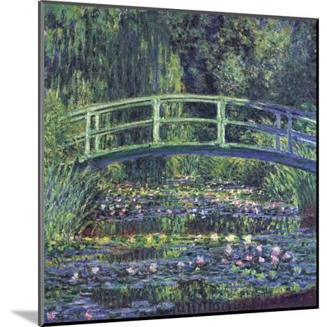 Water Lily Pond, c.1899 (blue)-Claude Monet-Mounted Art Print