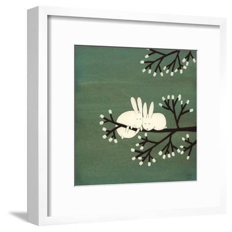 Rabbits on Marshmallow Tree-Kristiana P?rn-Framed Art Print