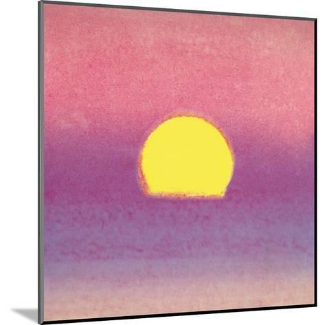 Sunset, c.1972 40/40 (lavender)-Andy Warhol-Mounted Art Print