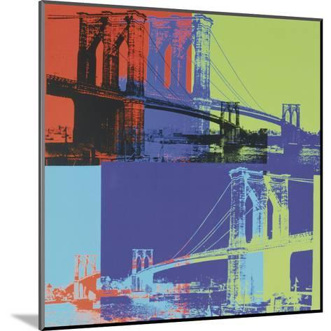 Brooklyn Bridge, c.1983 (orange, blue, lime)-Andy Warhol-Mounted Art Print