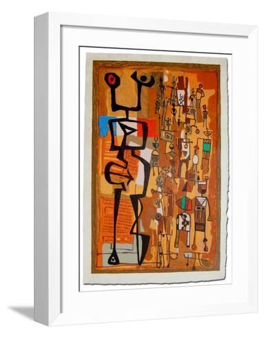 Rue du Marche-Mayeu Passa-Framed Art Print