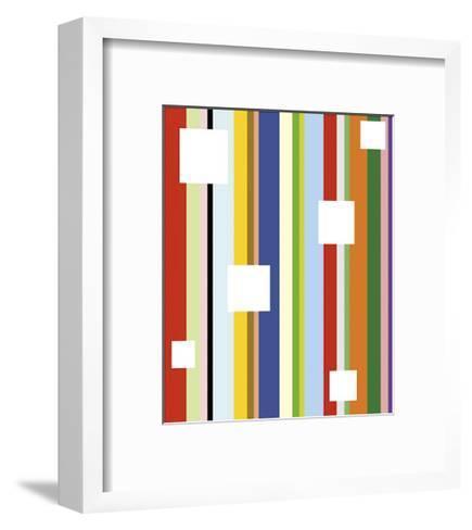 White Square on Stripe-Dan Bleier-Framed Art Print