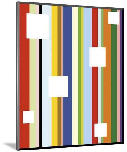 White Square on Stripe-Dan Bleier-Mounted Giclee Print