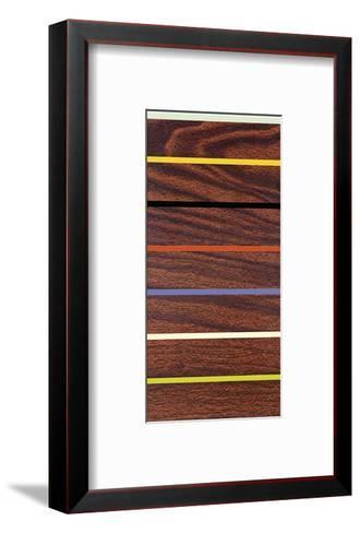Woodgrain and Stripe-Dan Bleier-Framed Art Print
