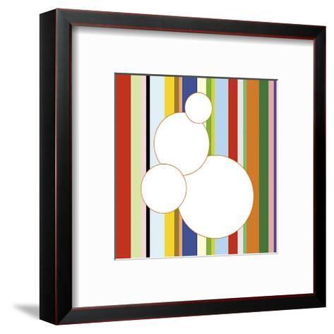White Bubble on Stripe (detail)-Dan Bleier-Framed Art Print