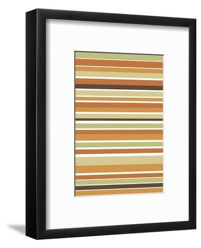 Terracotta Stripes-Denise Duplock-Framed Art Print