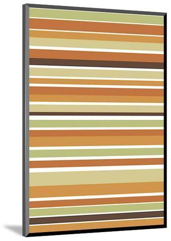 Terracotta Stripes-Denise Duplock-Mounted Giclee Print