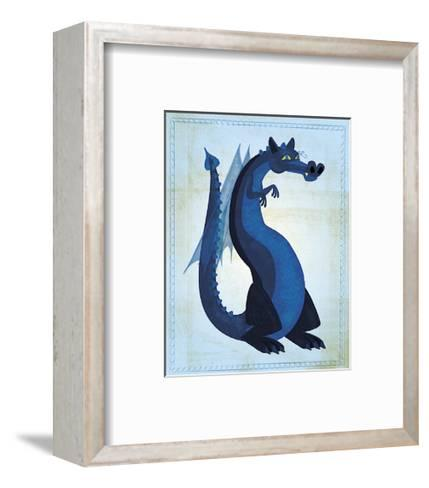 Blue Dragon-John Golden-Framed Art Print