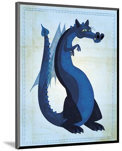 Blue Dragon-John Golden-Mounted Giclee Print