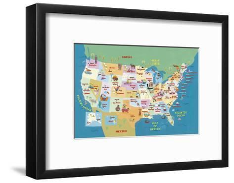 U.S.A. States and Capitals-Catrina Genovese-Framed Art Print