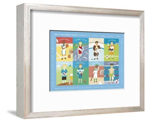 What's Your Favorite Sport?-Catrina Genovese-Framed Art Print