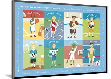 What's Your Favorite Sport?-Catrina Genovese-Mounted Giclee Print