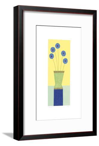 Pom-Pom Cornflowers-Hewitt-Framed Art Print
