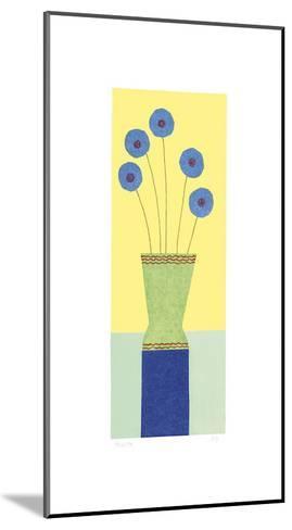Pom-Pom Cornflowers-Hewitt-Mounted Giclee Print