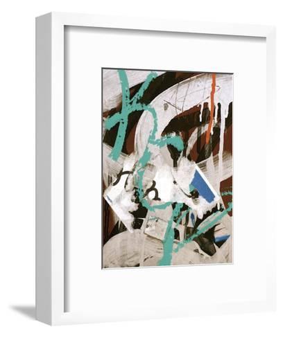 Aqua Tag III-Jenny Kraft-Framed Art Print