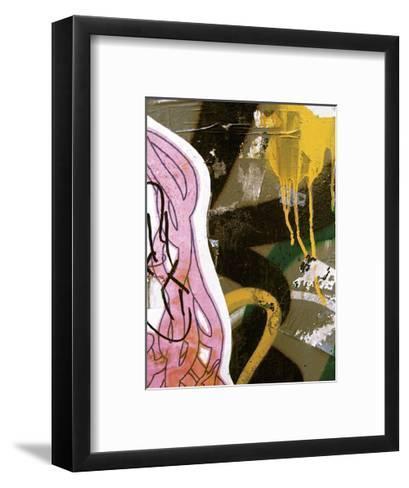 Pink Yellow Tag II-Jenny Kraft-Framed Art Print