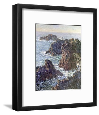 Rock Points at Belle-Ile, c.1886-Claude Monet-Framed Art Print