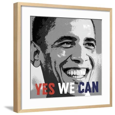 Barack Obama: Yes We Can--Framed Art Print
