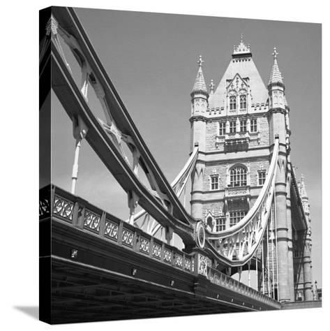 London Tower Bridge-Dave Butcher-Stretched Canvas Print
