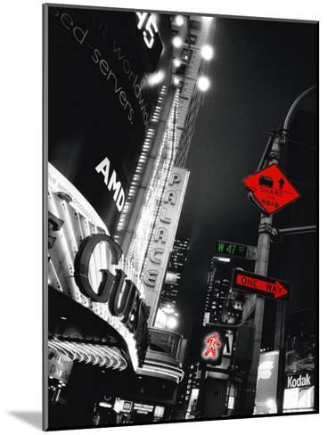 Times Square Night-Anne Valverde-Mounted Art Print