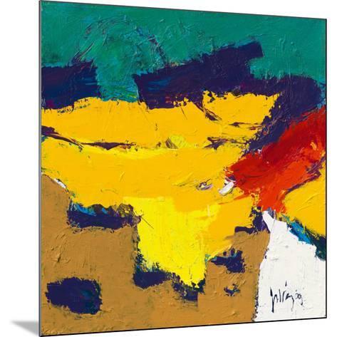 Yellow Plains-Jos van den Berg-Mounted Art Print