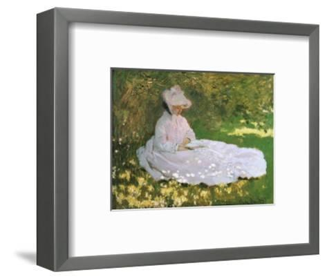A Woman Reading-Claude Monet-Framed Art Print