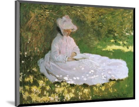 A Woman Reading-Claude Monet-Mounted Art Print