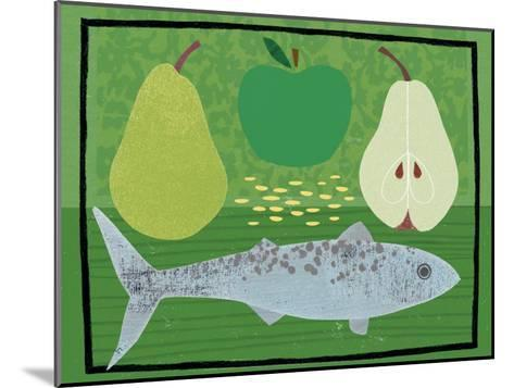 Pear, Apple and Fish-Jessie Ford-Mounted Art Print