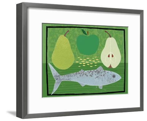 Pear, Apple and Fish-Jessie Ford-Framed Art Print