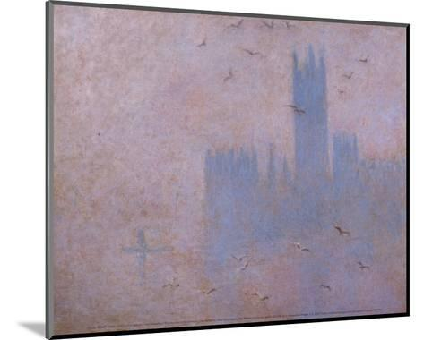 The Houses of Parliament, The Seagulls-Claude Monet-Mounted Art Print