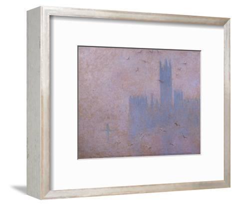 The Houses of Parliament, The Seagulls-Claude Monet-Framed Art Print