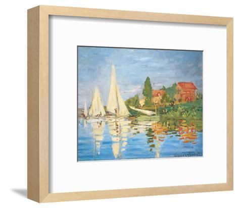 Regattas in Argenteuil-Claude Monet-Framed Art Print