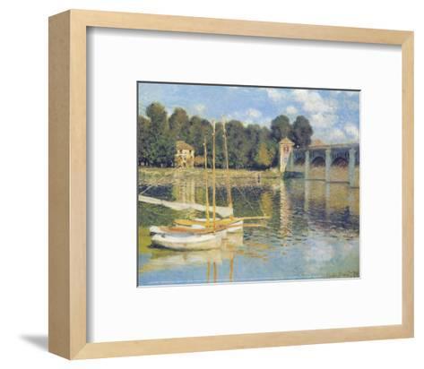 The Bridge in Argenteuil-Claude Monet-Framed Art Print