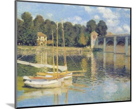 The Bridge in Argenteuil-Claude Monet-Mounted Art Print