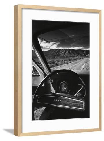 Dodge's Wheel (Death Valley, California, 1977)-Jean-Loup Sieff-Framed Art Print