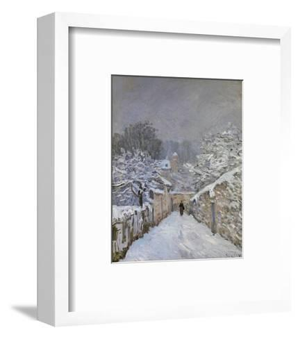Snow at Louveciennes, France, c.1878-Alfred Sisley-Framed Art Print