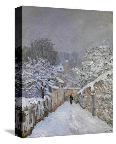 Snow at Louveciennes, France, c.1878-Alfred Sisley-Stretched Canvas Print