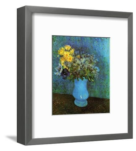 Vase with Lilacs, Daisies and Anemone-Vincent van Gogh-Framed Art Print