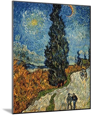Country Road in Provence by Night, c.1890-Vincent van Gogh-Mounted Art Print
