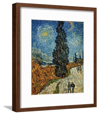 Country Road in Provence by Night, c.1890-Vincent van Gogh-Framed Art Print