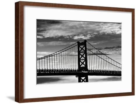 Benjamin Franklin Bridge-Erin Clark-Framed Art Print