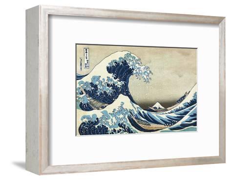 The Great Wave at Kanagawa-Katsushika Hokusai-Framed Art Print