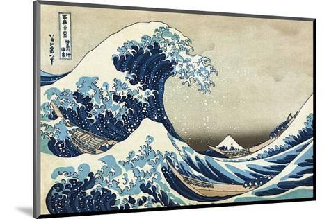 The Great Wave at Kanagawa-Katsushika Hokusai-Mounted Art Print