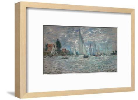 The Sailboats - Boat Race at Argenteuil, c. c.1874-Claude Monet-Framed Art Print