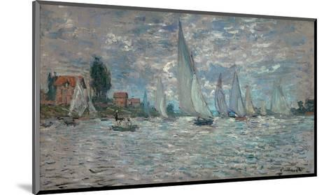 The Sailboats - Boat Race at Argenteuil, c. c.1874-Claude Monet-Mounted Art Print