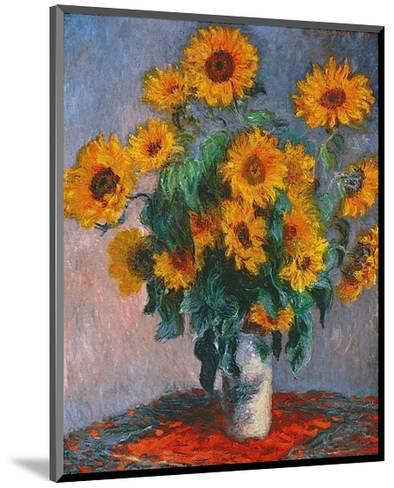 Vase of Sunflowers-Claude Monet-Mounted Art Print