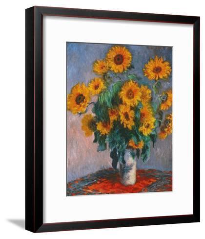 Vase of Sunflowers-Claude Monet-Framed Art Print