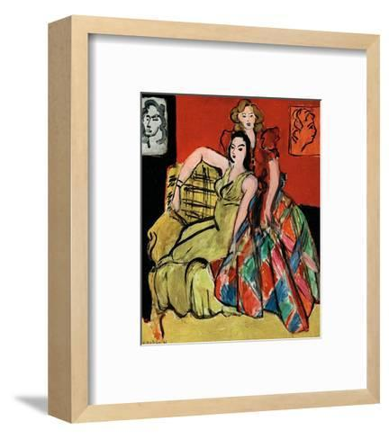 Two Young Women, the Yellow Dress and the Scottish Dress, c.1941-Henri Matisse-Framed Art Print